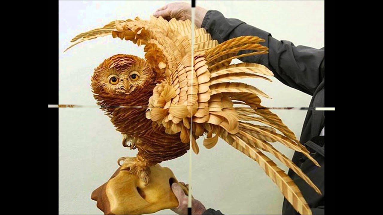 Wood chip animal sculptures by sergei bobkov wmv youtube