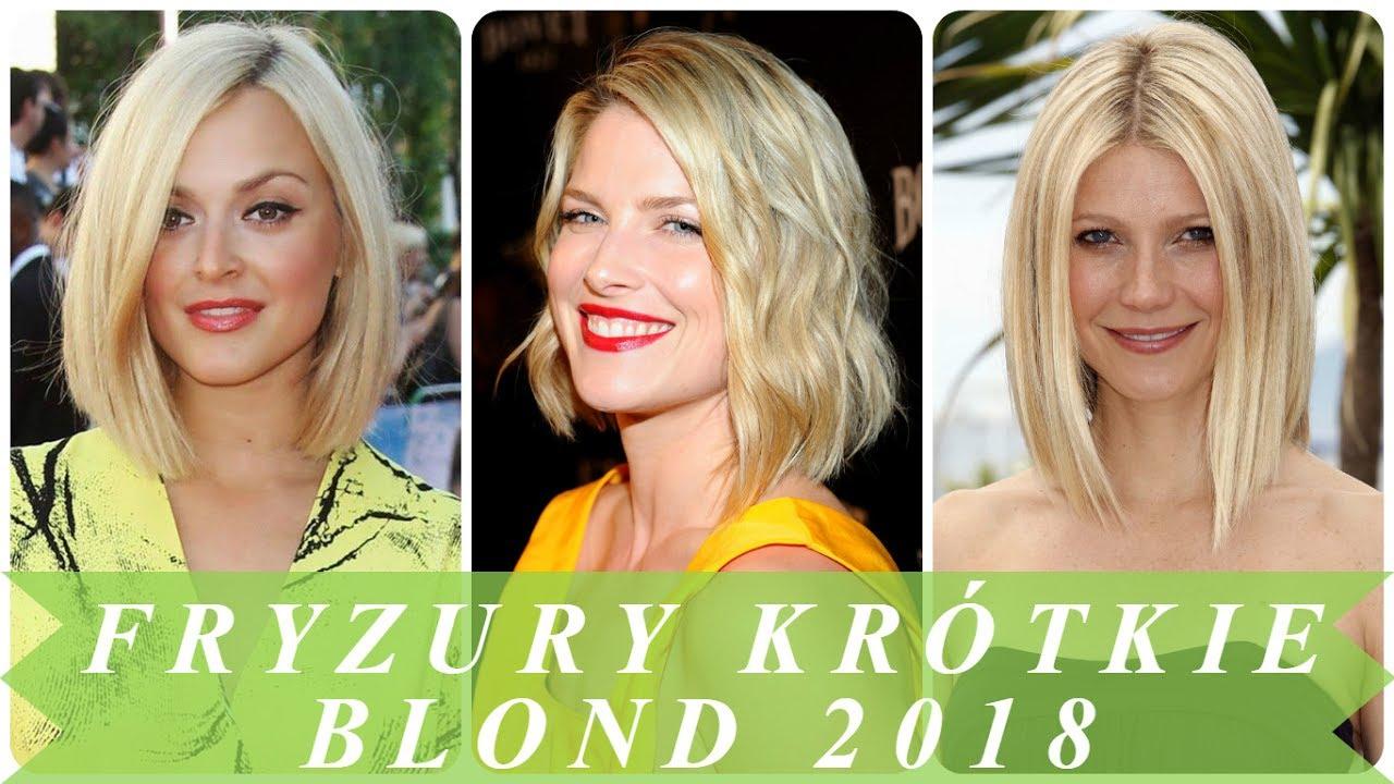 Fryzury Damskie 2018 Krotkie Wlosy Blond Belysning Lampa