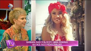 Teo Show (09.01.2019) - Barbara Isasi stalceste limba romana! Cum a facut fata provocarilo ...