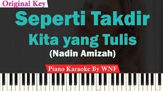 Download Nadin Amizah - Seperti Takdir Kita yang Tulis Karaoke Piano