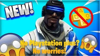 *NOT CLICKBAIT* HOW TO GET NEW PLAYSTATION SKIN WITHOUT PLAYSTATION PLUS (FORTNITE: BATTLEROYALE)