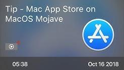 SCOM0778 - Tip - Mac App Store on MacOS Mojave