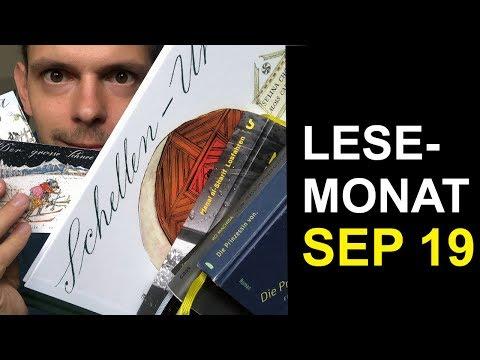Lesemonat - gelesene Bücher im September 2019   booktube