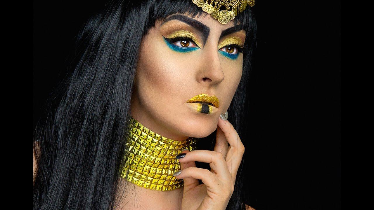 Cleopatra halloween makeup tutorial   Ina Pandora MUA - YouTube