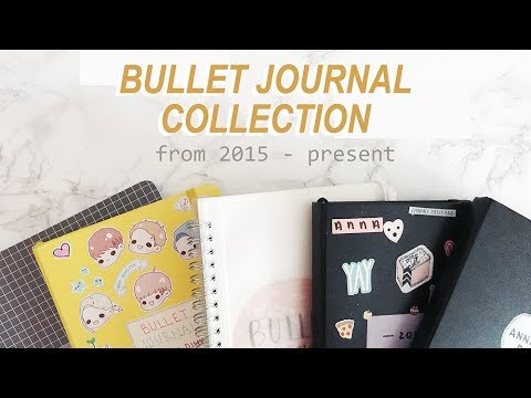 my bullet journal collection