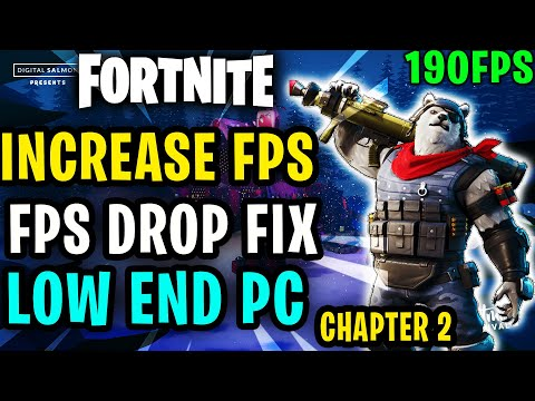 *NEW* Fortnite Chapter 2 Fps Drop Fix And Increase Fps Fix Lag And Stutter Guide For Low End PC