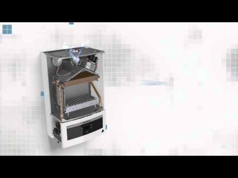 Первый запуск котла Buderus logamax U052-28K. - YouTube