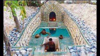 Build Most Beautiful Swimming Pool & Underground Way. Full Video