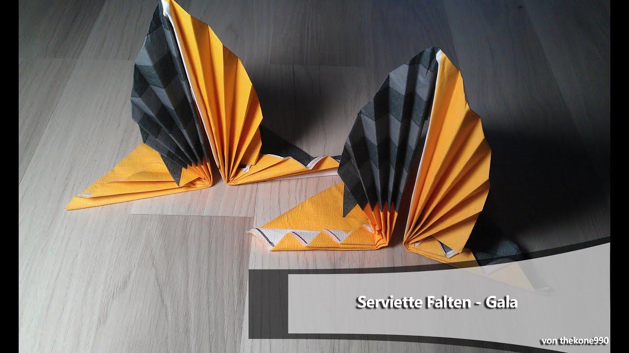 luxus servietten falten lilie schema. Black Bedroom Furniture Sets. Home Design Ideas