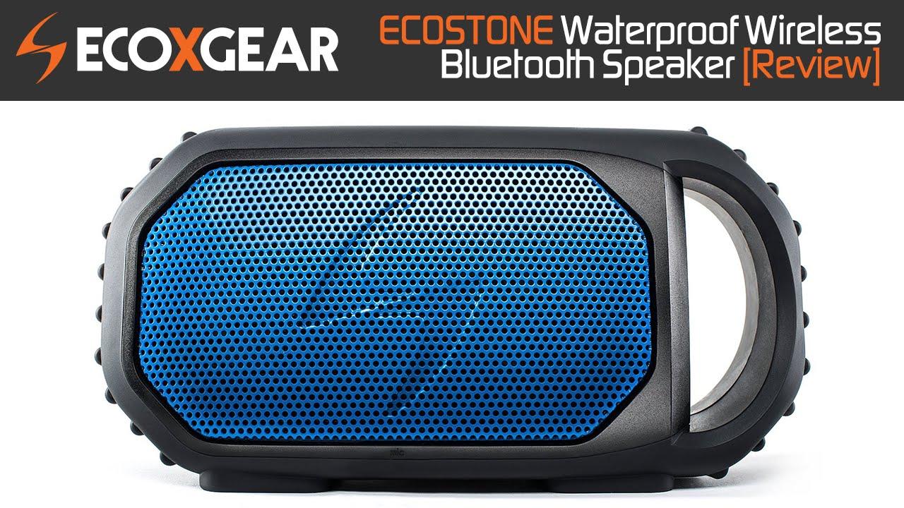 ECOXGEAR ECOSTONE Waterproof Wireless Bluetooth Speaker Review!