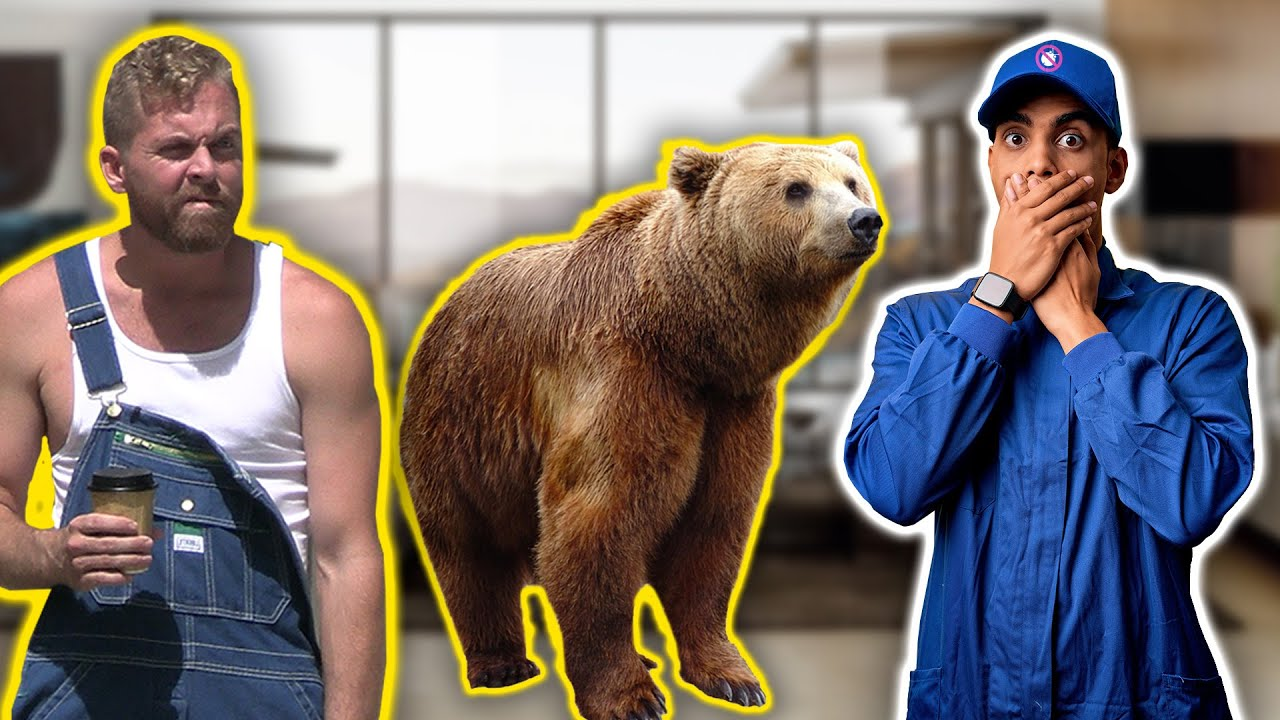 Putting a Real Grizzly Bear in My House & Hiring an Exterminator to Catch it