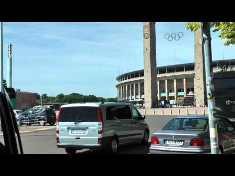 Outside Olympic Stadium in Berlin, Germany