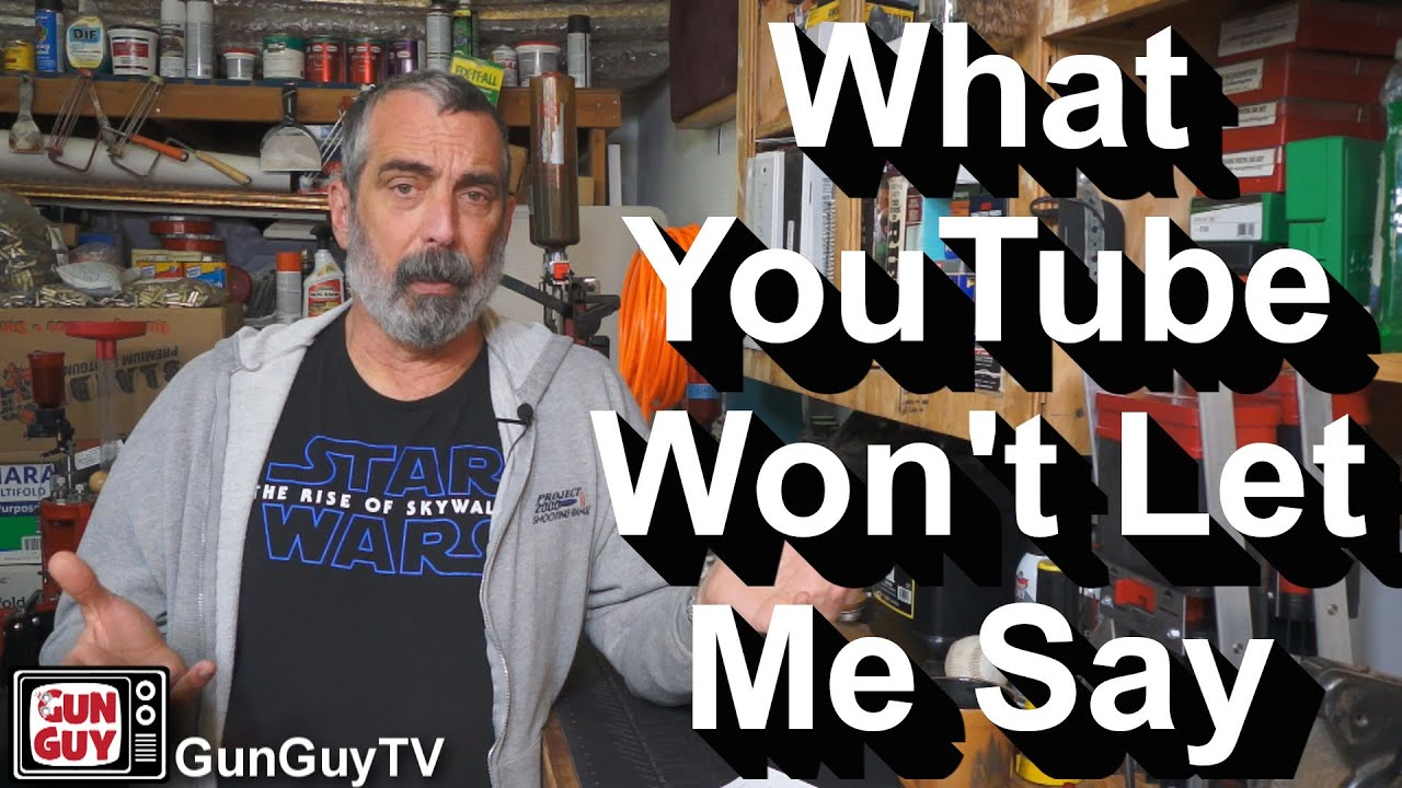 What YouTube Won't Let Me Say.