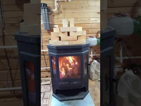 Печь камин +с водяным контуром. Www.santguru.ru