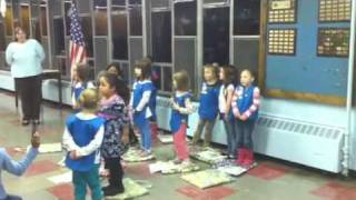 Daisy scouts singing