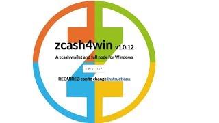 не заружается кошелек ZEC - zcash4win v1.0.12