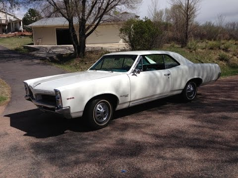 Restored 1967 Pontiac Tempest Backing out of the garage...