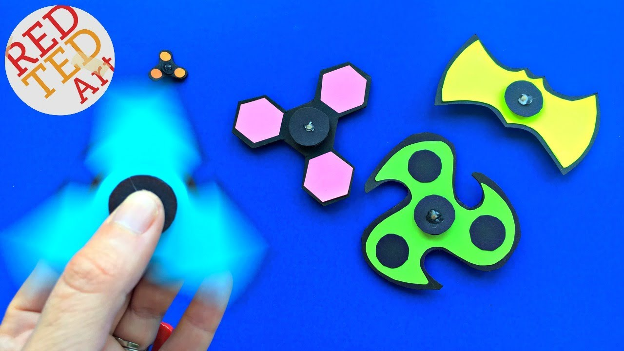 image about Printable Fidget Spinner Template titled *Refreshing* Fidget Spinner Do-it-yourself TEMPLATES without the need of bearings - Article It Notice Fidget Spinner Do-it-yourself