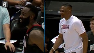 James Harden & Westbrook Imitating Capela Running the Floor | October 3, 2019 | 2019 NBA Preseason