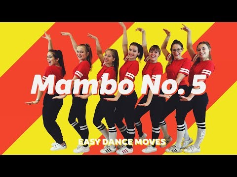"""MAMBO NUMBER 5 - LOU BEGA"" - Easy Dance Moves - Dansstudio Sarah Choreography - 90's REMIX"