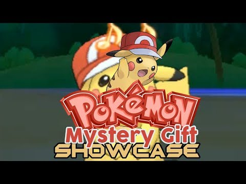 Pokemon Mystery Gift Showcase Part 26: Ash Pikachu (Kalos Cap)