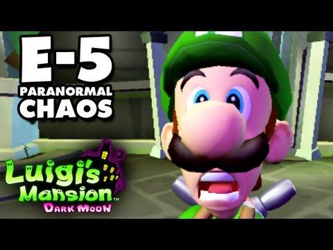 Luigi's Mansion Dark Moon - Treacherous Mansion - E-5 Paranormal Chaos (Nintendo 3DS Walkthrough)