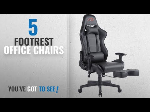 Top 10 Footrest Office Chairs [2018]: [UPDATED]Top Gamer Ergonomic Gaming Chair Game Computer Chairs