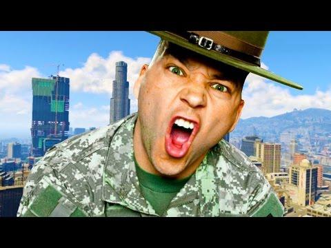 DRILL SERGEANT TERRORISES GTA ONLINE LOBBIES (Voice Trolling)