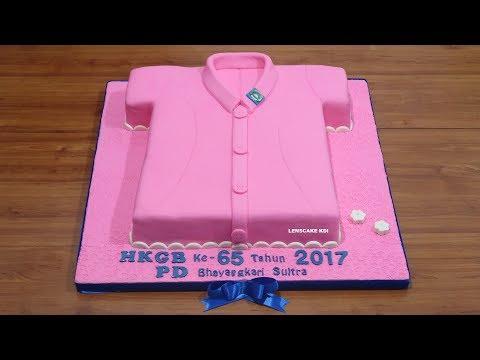 BIG CAKE 50CM! BAJU BHAYANGKARI POLRI CAKE   RECIPE HOW TO MAKE BIRTHDAY CAKE UNIQUE
