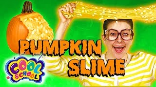 DIY OOZING PUMPKIN GUTS - Halloween Slime With A REAL Pumpkin! | Arts and Crafts with Crafty Carol