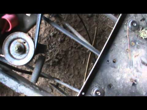 Mtd Lawn Mower Belt Diagram Wiring For 4 Pin Round Trailer Plug Huskee Tractor ............shit - Youtube