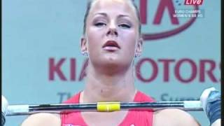 Weightlifting 2009 girl from Norway Anna Jordalen