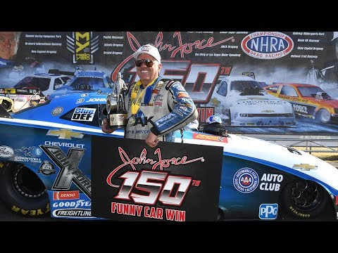 John Force races to his 150th win