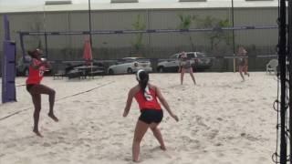 Sets serves and Digs Melissa Fuchs HBU Beach Volleyball 2017