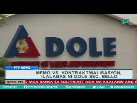 [PTVNews] Memo vs. kontraktwalissasyon, ilalabas ni DOLE Sec. Bello [07|27|16]