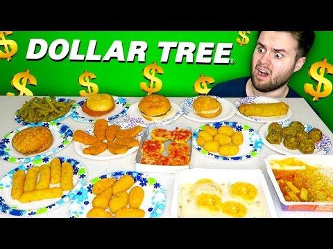 I bought the whole frozen food aisle at the dollar tree... - Dollar Store Taste Test