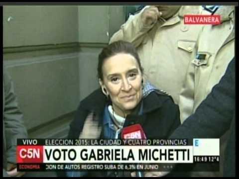 C5N - ELECCION 2015: ENTREVISTA GABRIELA MICHETTI