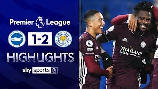 Daniel Amartey snatches late winner! 😱| Brighton 1-2 Leicester | EPL Highlights