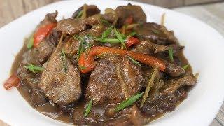 Как приготовить говядину в соусе из черного перца