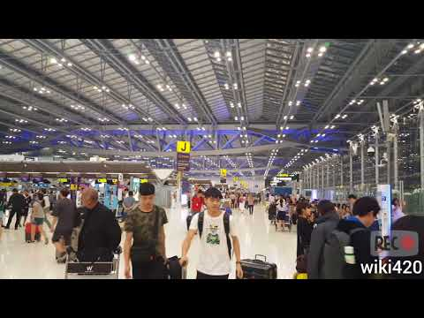Suvarnabhumi Airport Bangkok Int BKK airport  visit on 24 February 2018 full HD