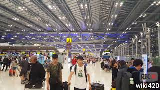 Suvarnabhumi Airport Bangkok Int BKK airport  visit on 24 February 2018 full HD