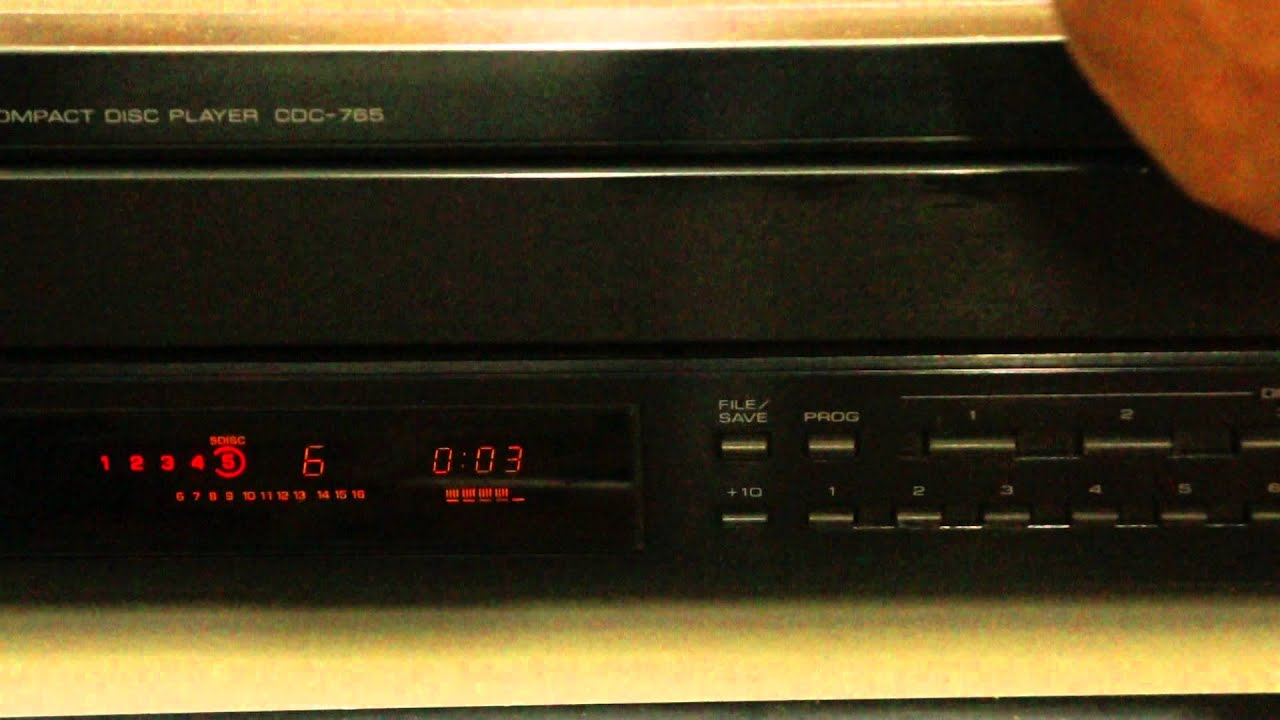 yamaha cd player cdc 765 youtube. Black Bedroom Furniture Sets. Home Design Ideas