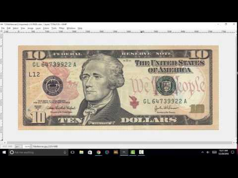 U.S $10 Bill Series 2004A: Microprinting Features