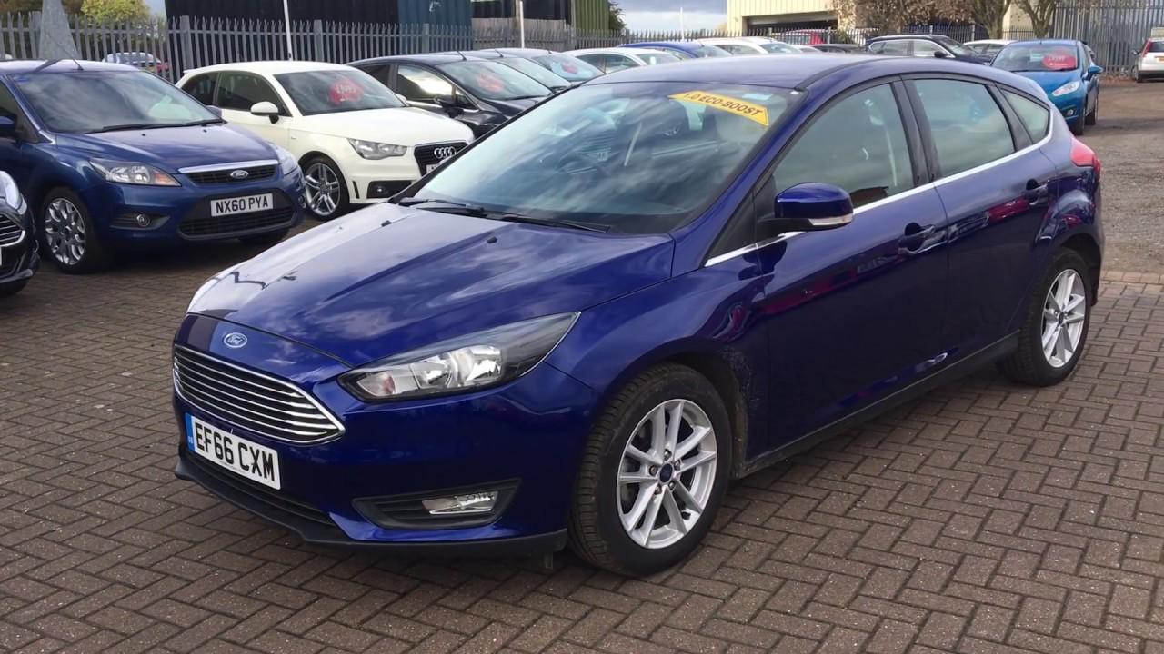 Used Ford Focus 1 0 Ecoboost Zetec 5dr Blue 2016