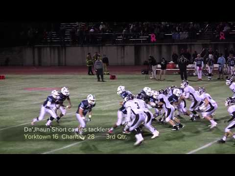 2013 Chantilly vs Yorktown Football Highlights