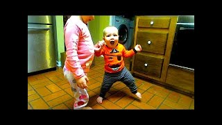 Toddler Helps Baby Walk!!! - Thefunnyrats Family Vlog