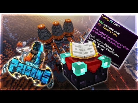 ENCHANTING AND TRAVELING AROUND THE MAP!! | Cosmic Prisons S3 #12