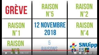 Grève du 12 novembre, cinq raisons. Quelles sont les vôtres?