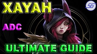 Xayah ADC GUIDE + Combos + Item Build + Tips | [League of Legends]