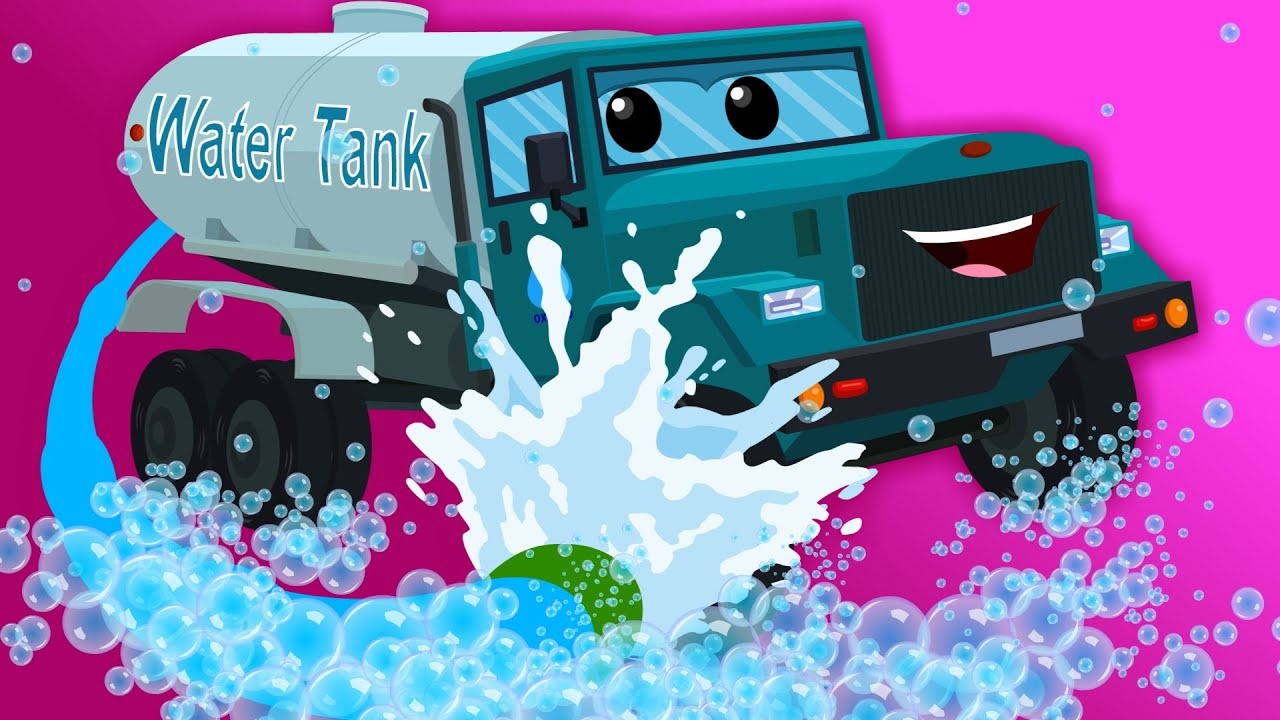 Water Tank | Car Wash | Children's video